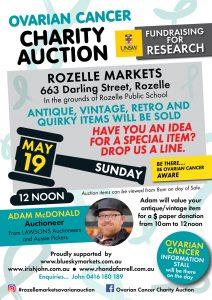 Rozelle Markets Ovarian Cancer Auction 19/05/19 -